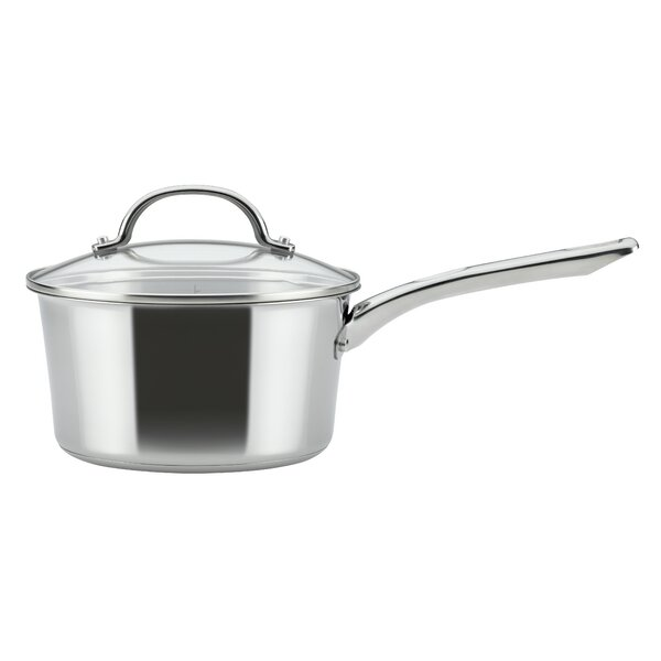 Covered Saucepan 3 qt. Stainless Steel Sauce Pan  with Lid by Ayesha Curry