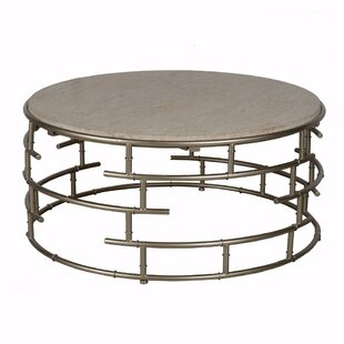Drucker Segments Brass Coffee Table Brayden Studio
