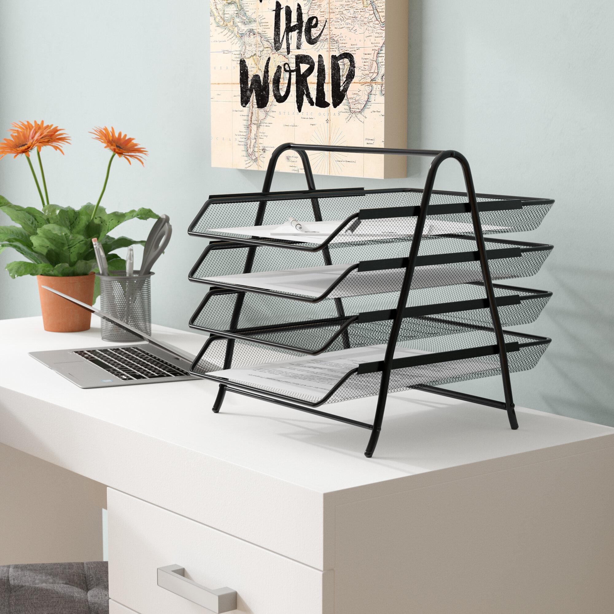 Mind Reader 4 Tier Steel Mesh Paper Tray Desk Organizer & Reviews ...