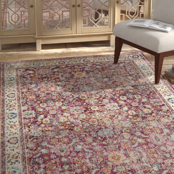 Doucet Red/Gray Area Rug by Bungalow Rose