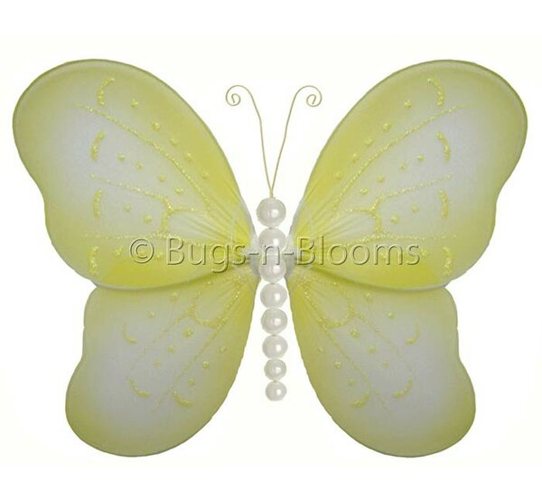 Kristopher Butterfly Hanging Pearl Nylon 3D Wall Decor by Harriet Bee