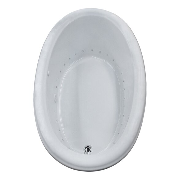 Martinique 70 x 42 Oval Air Jetted Bathtub with Drain by Spa Escapes