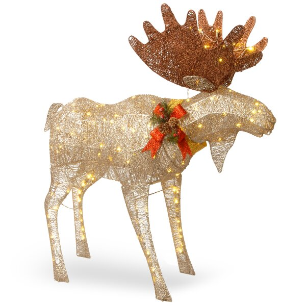 outdoor reindeer decorations youll love wayfair - Big Indoor Christmas Decorations