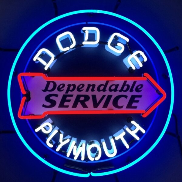 Dodge Dependable Service Neon Sign by Neonetics