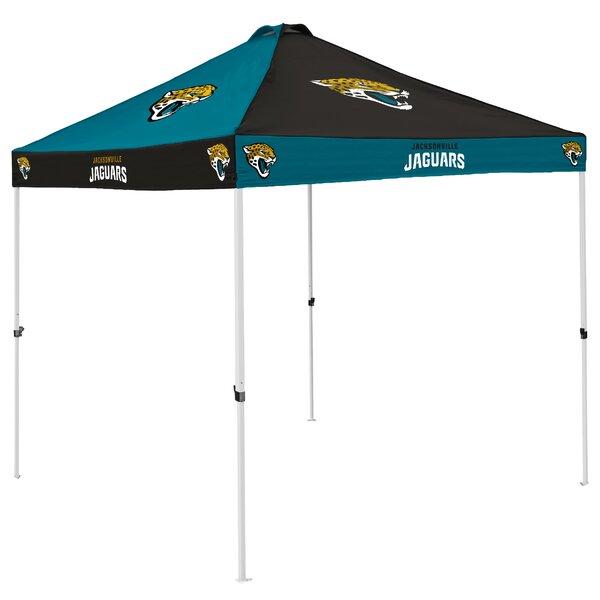 Jacksonville Jaguars Checkerboard 9 Ft. W x 9 Ft. D Steel Pop-Up Canopy by Logo Brands