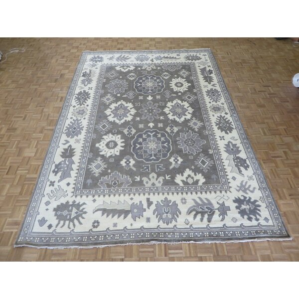 One-of-a-Kind Josephson Oushak Ushak Hand-Knotted Wool Light Brown Area Rug by Canora Grey