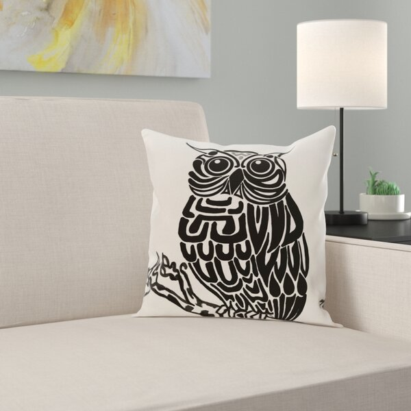 Raegan Hootie Bird Print Throw Pillow by Zipcode Design