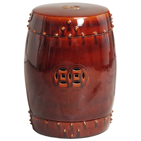 Iona Drum Garden Stool by Bloomsbury Market