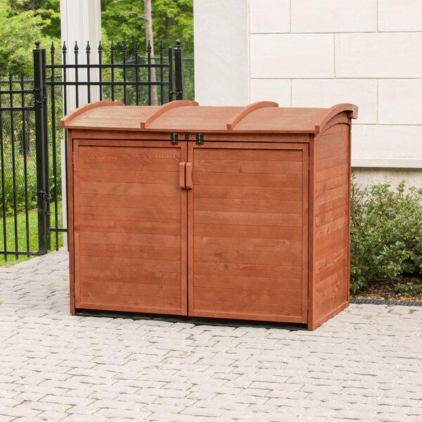 5 ft. W x 3 ft. D Wooden Horizontal Garbage Shed by Leisure Season Leisure Season