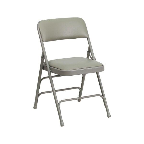 Taylor Vinyl Padded Folding Chair by Ebern Designs