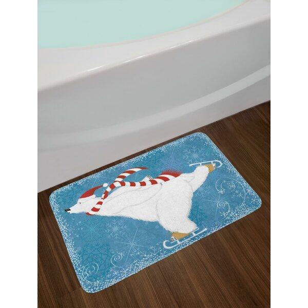 Polar Bear Bath Rug by East Urban Home