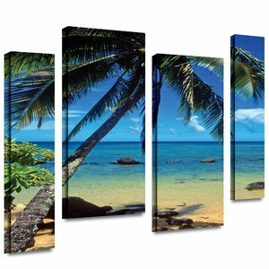 'Beautiful Anini Beach' 4 Piece Photographic Print on Wrapped Canvas Set by Bay Isle Home