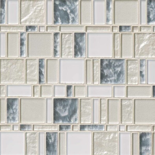 Chantilly Stax Random Sized Glass Mosaic Tile in Gray by MSI