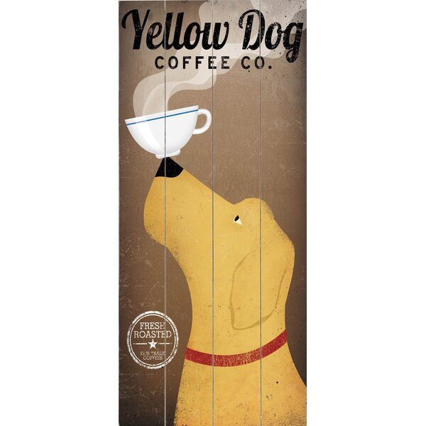 Yellow Dog Coffee Graphic Art Multi-Piece Image on Wood by Artehouse LLC