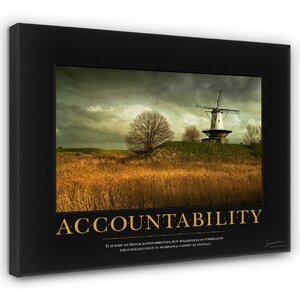 'Accountability Windmill Motivational' Photographic Print by Andover Mills