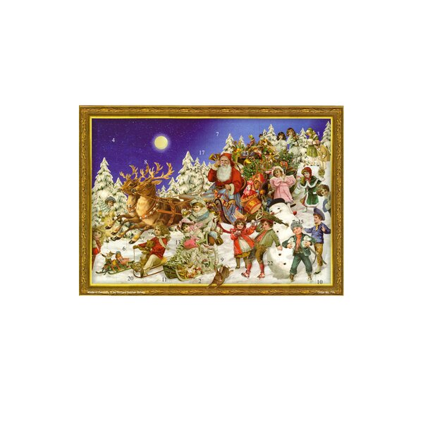 Large Santa and Sled Advent Calendar by Alexander Taron