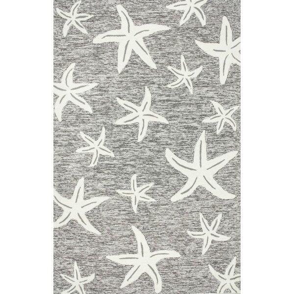 Bernardston Hand-Hooked Gray Area Rug by Beachcrest Home
