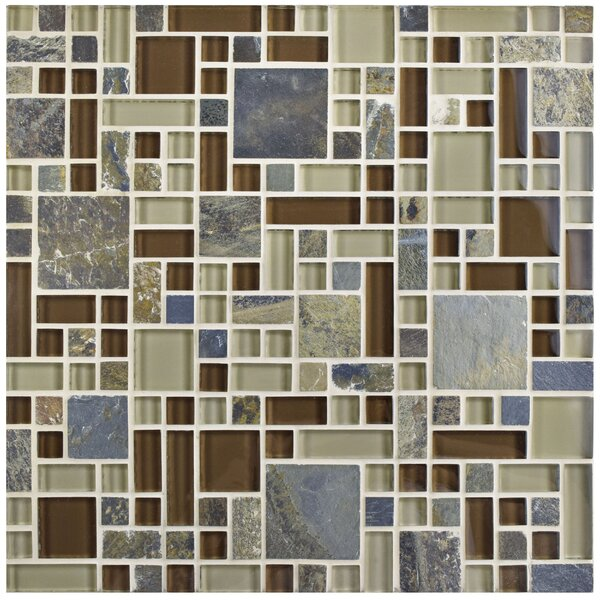 Sierra Random Sized Glass/Stone Mosaic Tile in Versailles Brixton by EliteTile