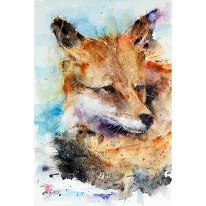 Fox by Dean Crouser Painting Print on Wrapped Canvas by Loon Peak