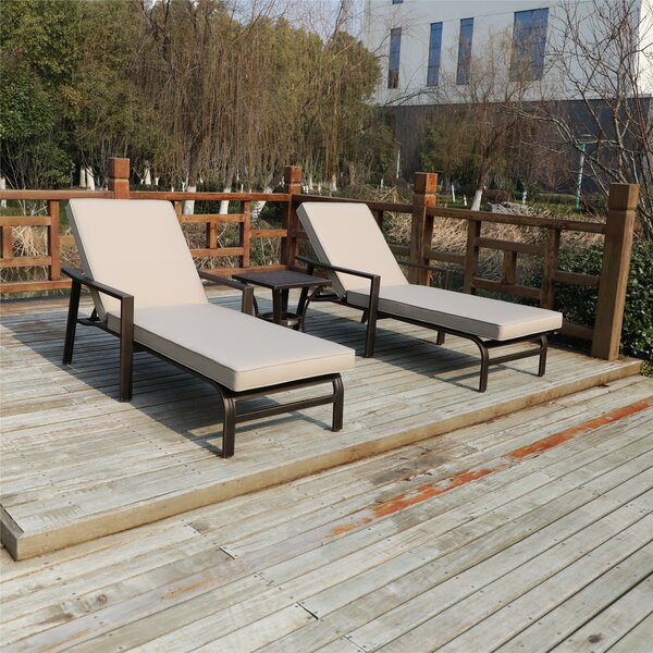 Rolla Sun Lounger Set with Cushions and Table