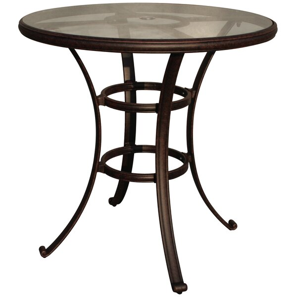 Mentone Glass Bar Table by Darby Home Co