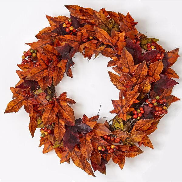 Maple Leaf And Berry 20 Wreath by The Holiday Aisle