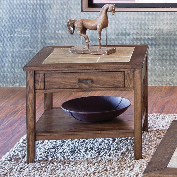 Gauna Wood End Table by Millwood Pines