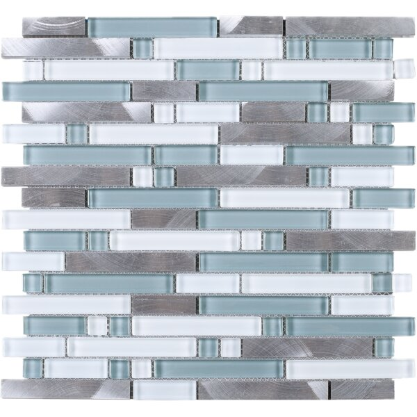 Series Thread Random Sized Mixed Material Tile in Blue/Gray by Multile
