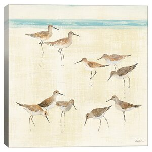 Sandpipers Canvas Print by iCanvas