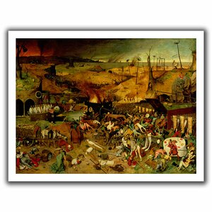 The Triumph of Death' by Pieter Bruegel Painting Print on Rolled Canvas by ArtWall