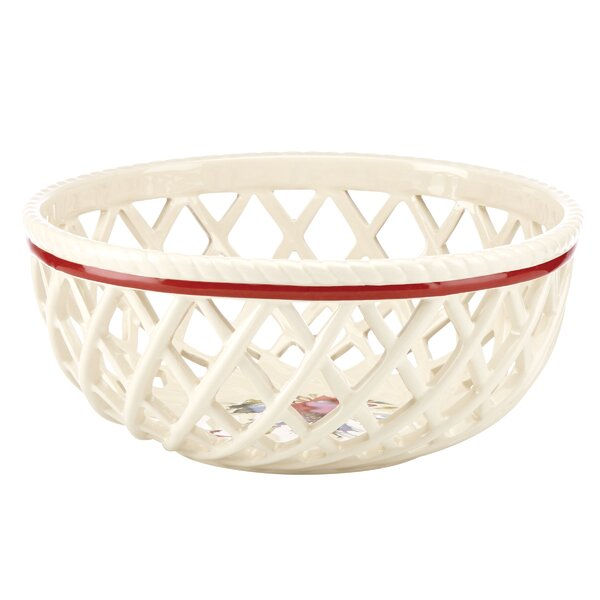Winter Greetings Open Weave Bread Basket by Lenox