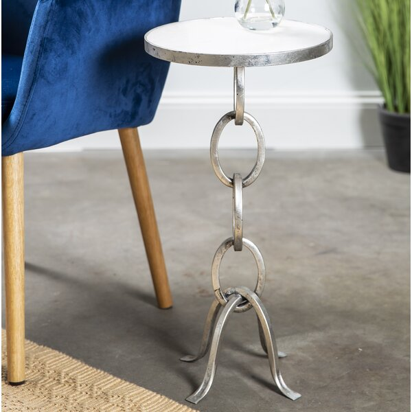 Guerrero Stacked Chain Links End Table by Orren Ellis