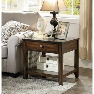 Diggins End Table With Storage by DarHome Co