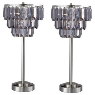 Chandelier table lamps wayfair chandelier 28 table lamp set of 2 aloadofball Image collections