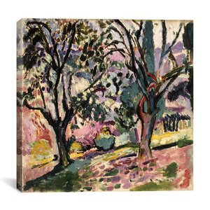 Promenade Among the Olive Trees (1906) Painting Print on Canvas by Astoria Grand