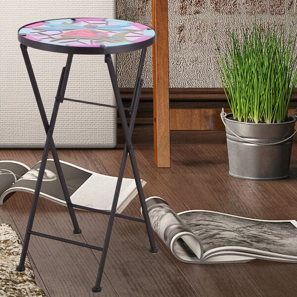 Folding Bistro Table by Adeco Trading