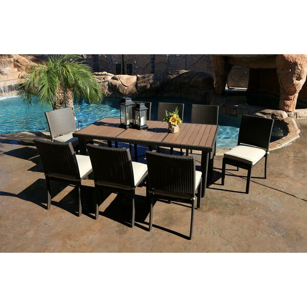 Tampa 9 Piece Dining Set by World Wide Wicker