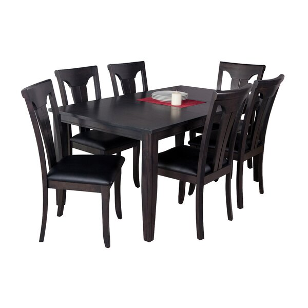 Haan 7 Piece Solid Wood Dining Set by Red Barrel Studio