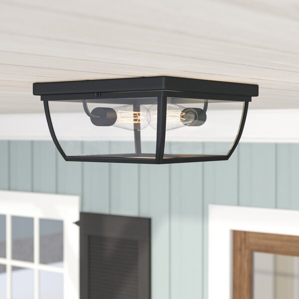 Silver Gulch 2-Light Flush Mount by Red Barrel Stu