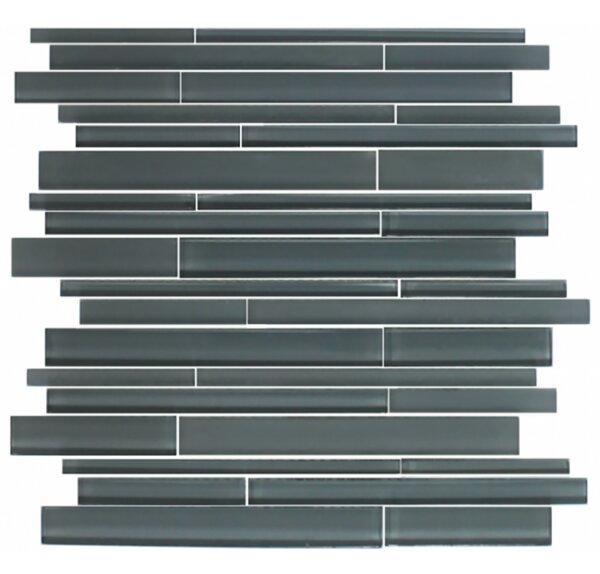 Linear Random Sized Glass Mosaic Tile in Gray by Susan Jablon