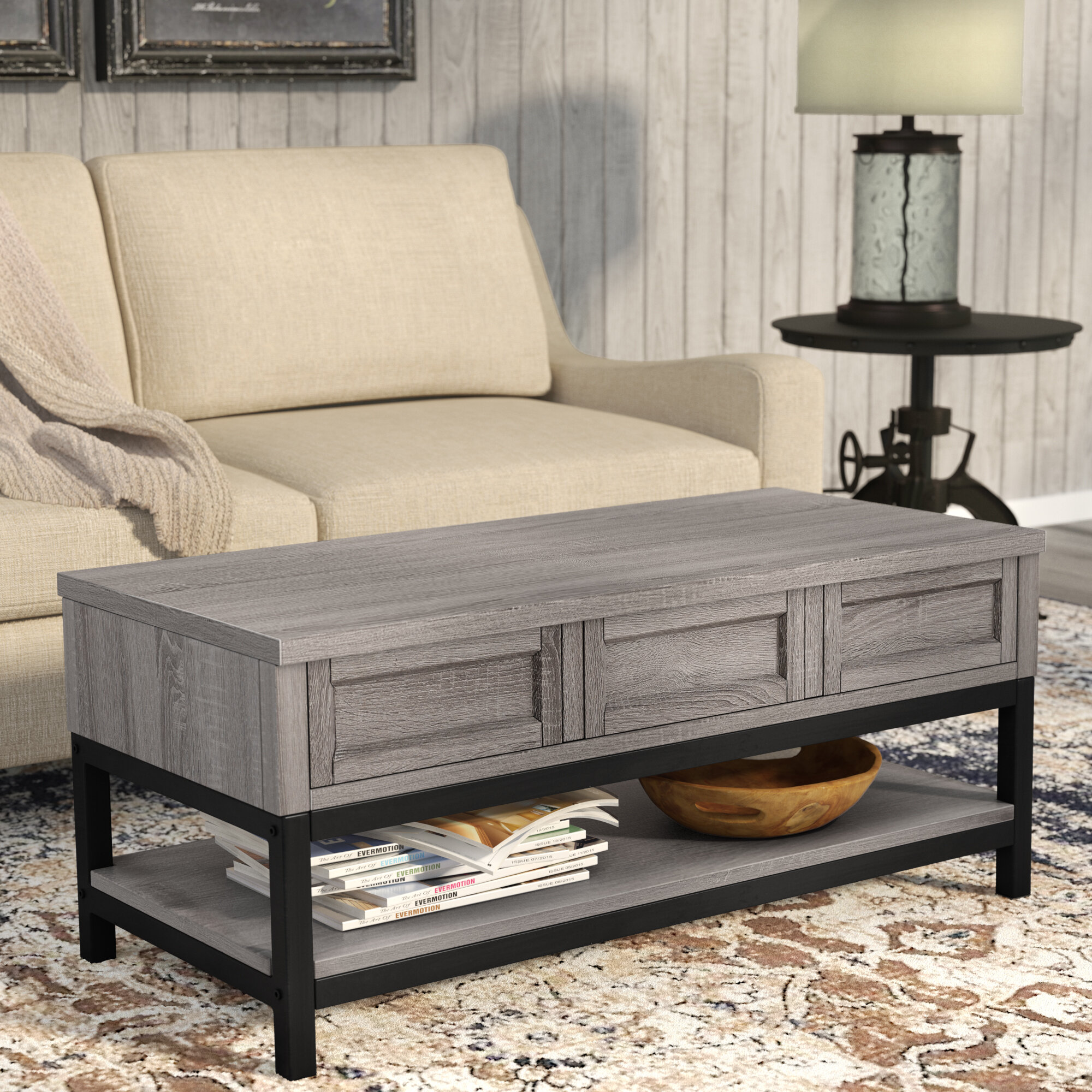 Laurel Foundry Modern Farmhouse Omar Lift Top Coffee Table Reviews Wayfair