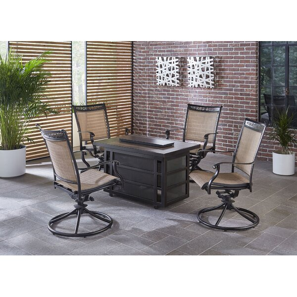 Fontana 5 Piece Firepit Set by Fleur De Lis Living