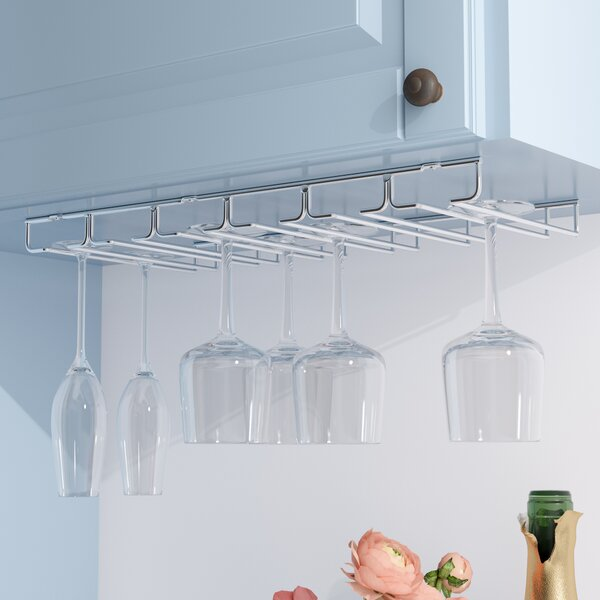Hanging Wine Glass Rack by Rebrilliant