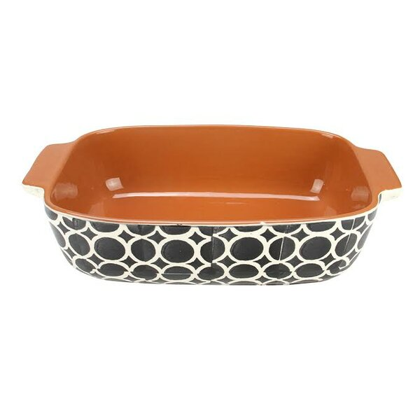 Basic Luxury Decorative Circle Rectangular Terracotta Oven Baking Dish by Northlight Seasonal