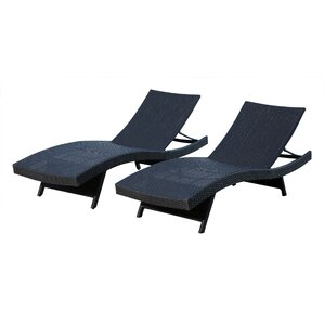 Canaan Chaise Lounge (Set of 2)  sc 1 st  Wayfair : black wicker chaise lounge - Sectionals, Sofas & Couches
