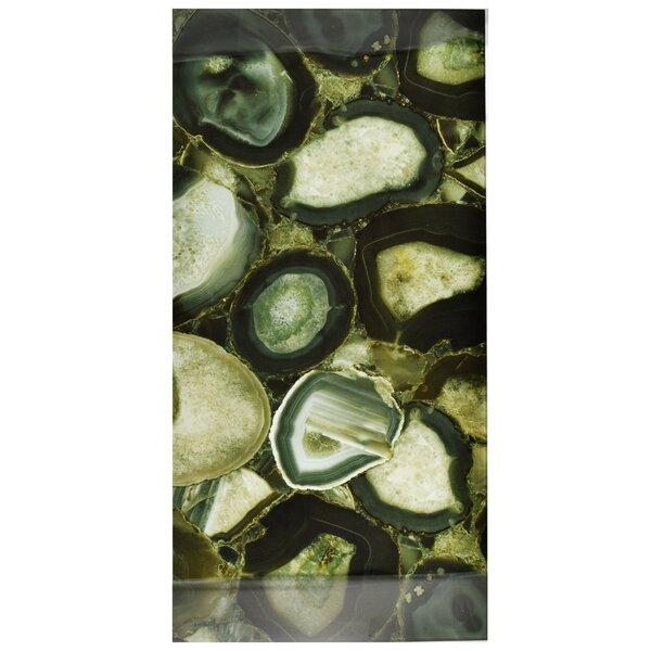 Archaea 11.75 x 23.75 Glass Field Tile in Verde/Black by EliteTile