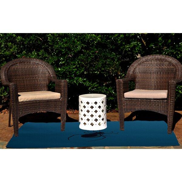 Eeek! Holiday Print Teal Indoor/Outdoor Area Rug by The Holiday Aisle