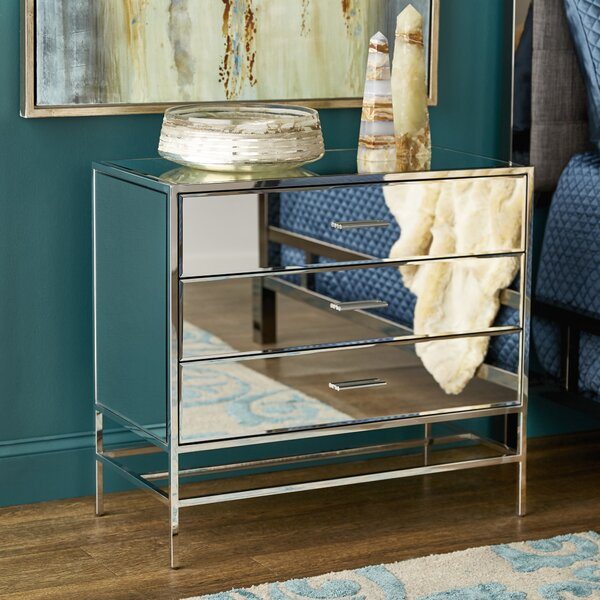 Conger Stainless Steel 3 Drawer Accent Chest by Mercer41