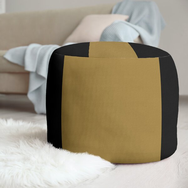Wake Salem Stripes Cube Ottoman by East Urban Home East Urban Home