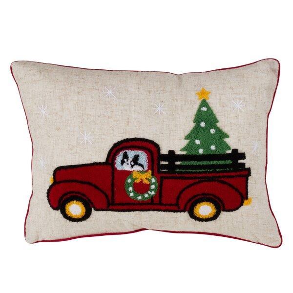 Zev Truck Design Christmas Lumbar Pillow by The Holiday Aisle
